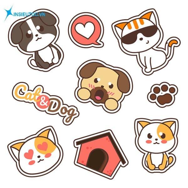 mẫu sticker thú cưng đẹp - In Siêu Tốc