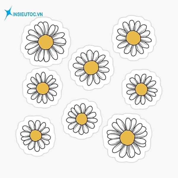 sticker hoa cúc - In Siêu Tốc