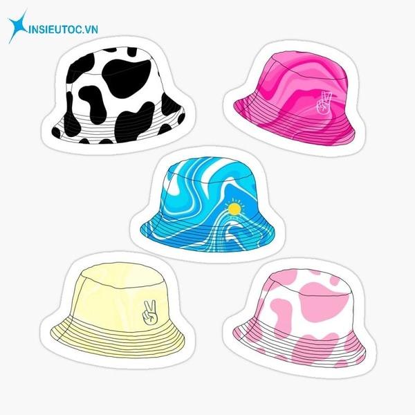 sticker mũ là gì - In Siêu Tốc