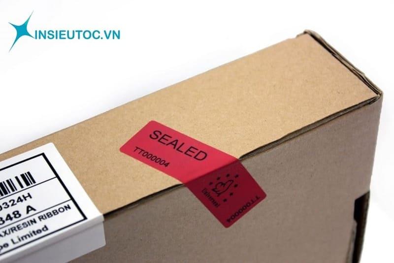 Tem bảo hành, niêm phong có mục đích đảm bảo hàng chính hãng