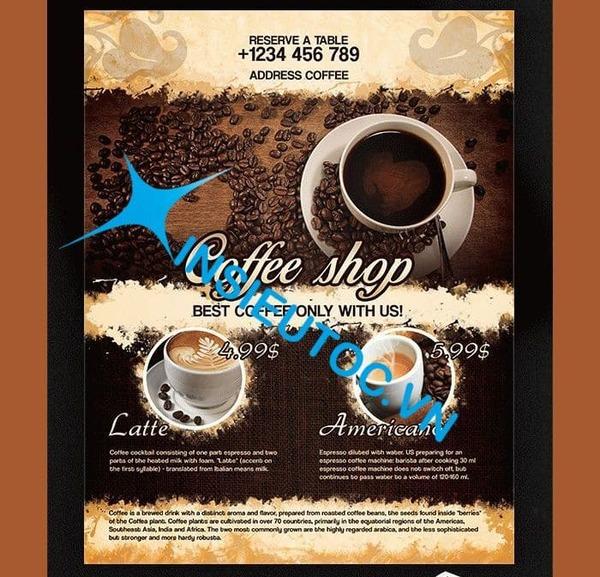 Tờ rơi Coffee Shop tối giản - In Siêu Tốc