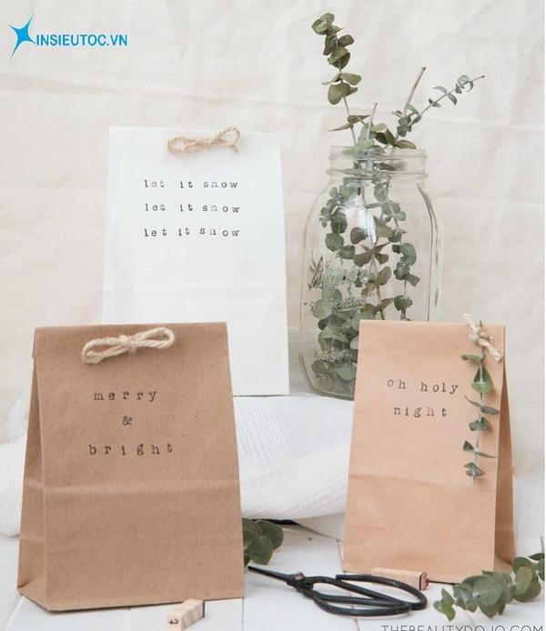 các mẫu túi giấy độc đáo - In siêu tốc