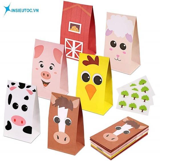 Mẫu túi giấy hình động vật - In siêu tốc