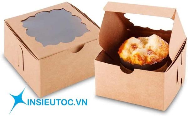 thiết kế hộp giấy kraft đựng bánh - In Siêu Tốc