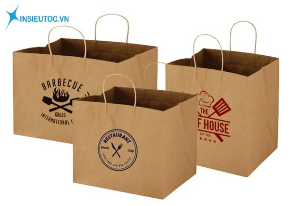 Túi giấy đẹp đựng thực phẩm - In Siêu Tốc
