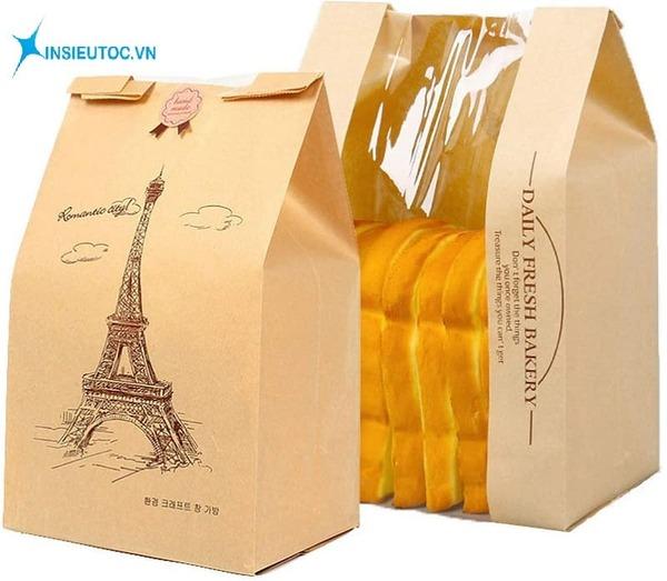 Túi giấy đựng bánh mì tiện dụng- In Siêu Tốc