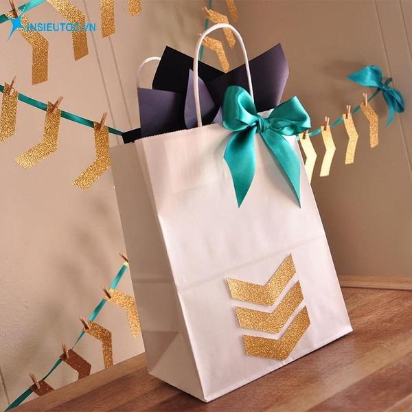 Túi giấy đựng quà có nơ xinh - In Siêu Tốc