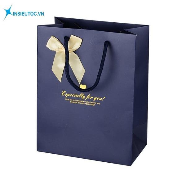 Túi giấy đựng quà có nơ - In Siêu Tốc