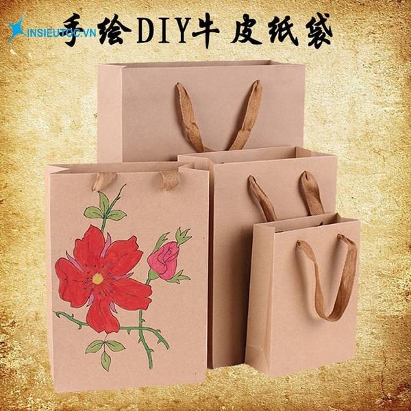 Túi giấy hoạ tiết vẽ tay - In Siêu Tốc