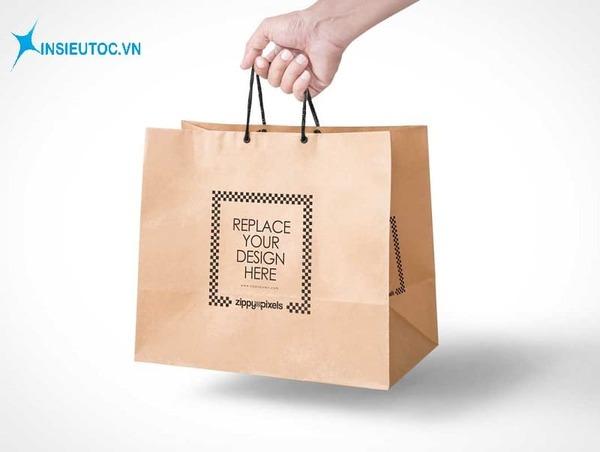 Túi giấy mỹ phẩm có logo - In Siêu Tốc
