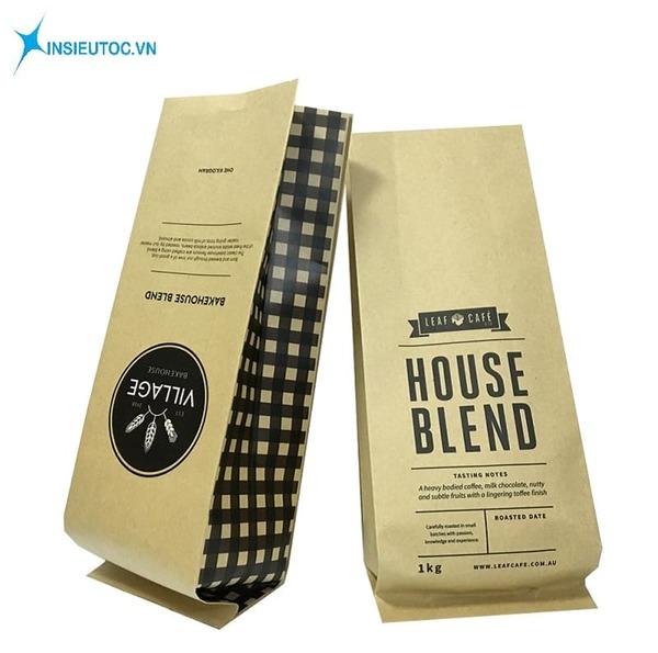 Túi giấy thực phẩm đựng cà phê - In Siêu Tốc