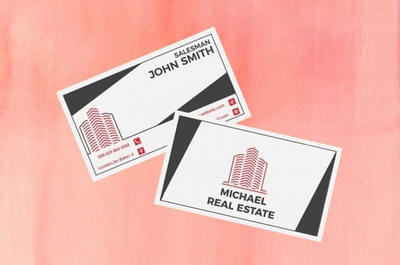 card visit bất động sản