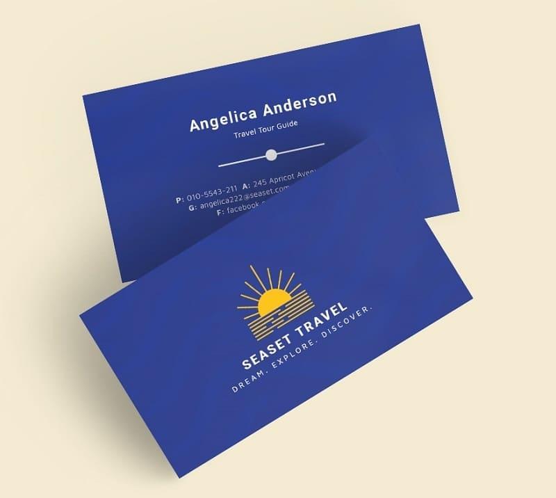 card visit ngành du lịch