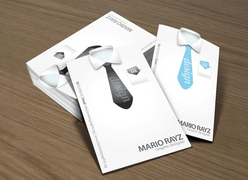 card visit ngành thơi trang nam