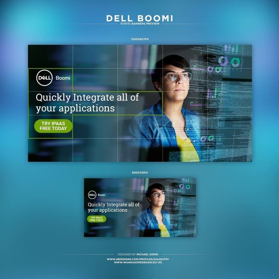 mẫu banner quảng cáo dell