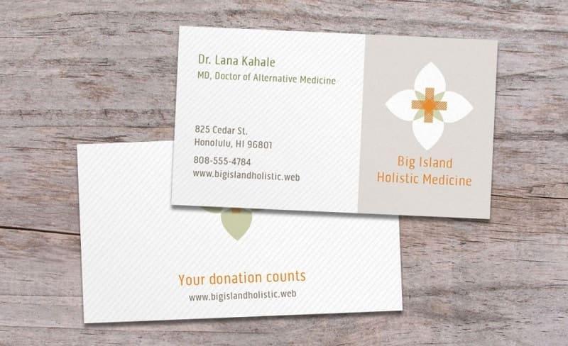 mẫu card visit bác sĩ