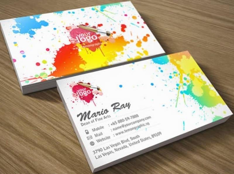 mẫu card visit họa sĩ