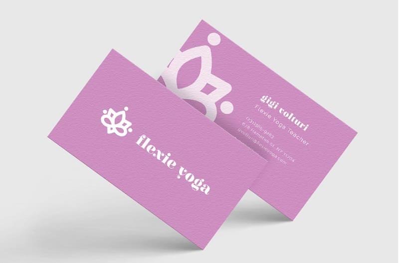 mẫu card visit yoga