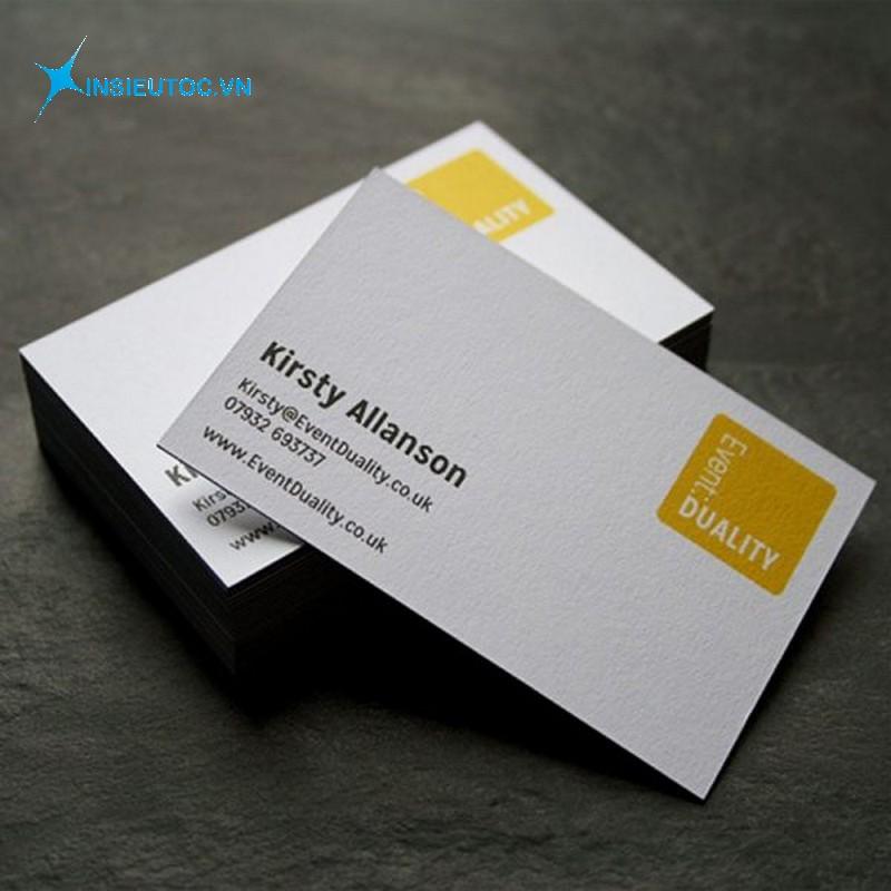 name card giấy mỹ thuật