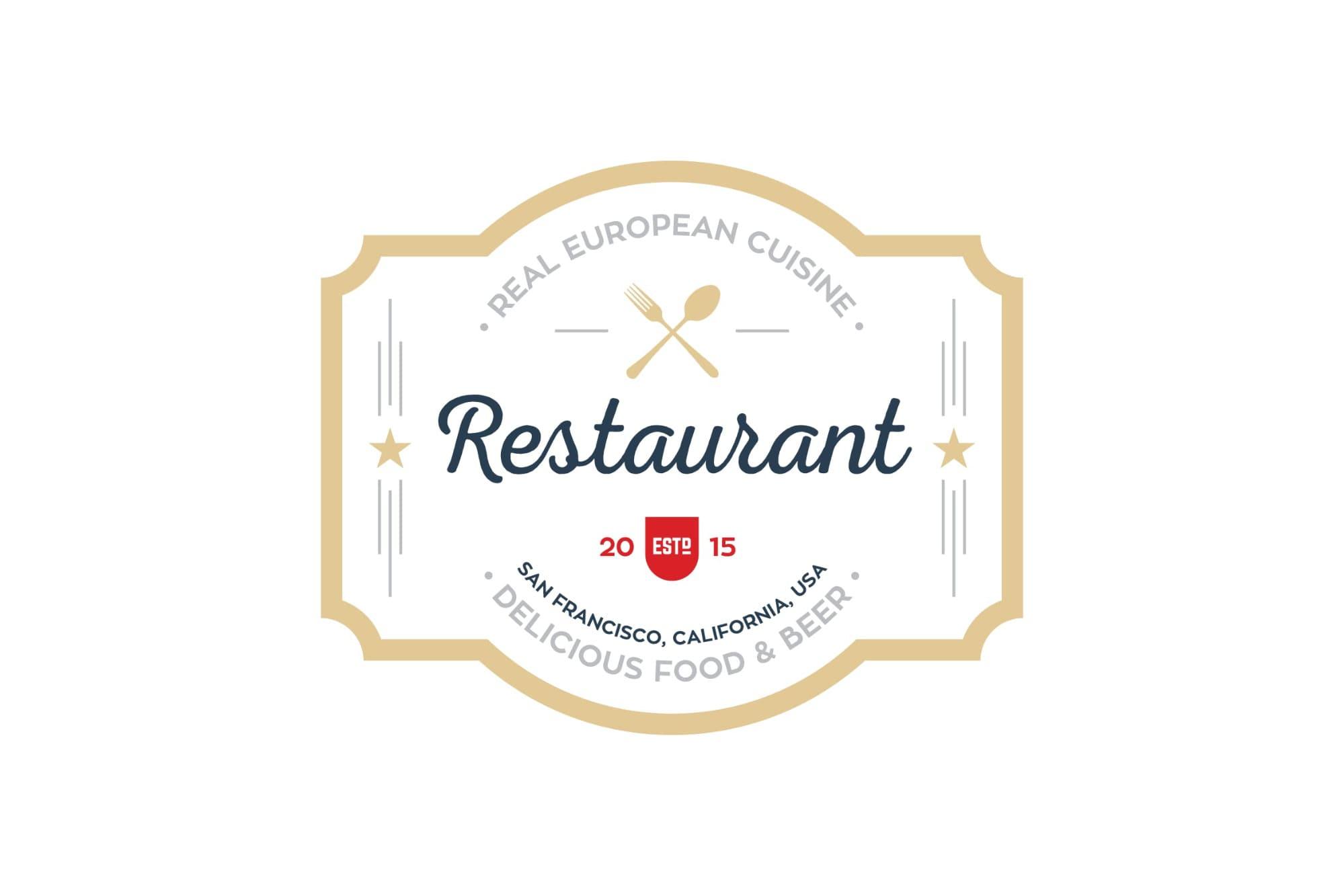 mẫu logo nhà hàng