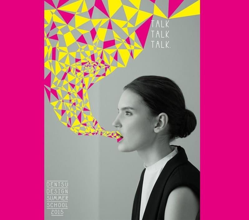 mẫu poster quảng cáo cô gái