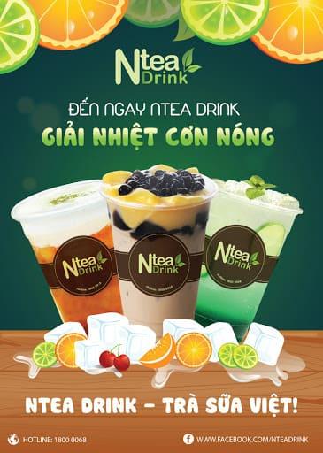 mẫu poster quảng cáo trà sữa