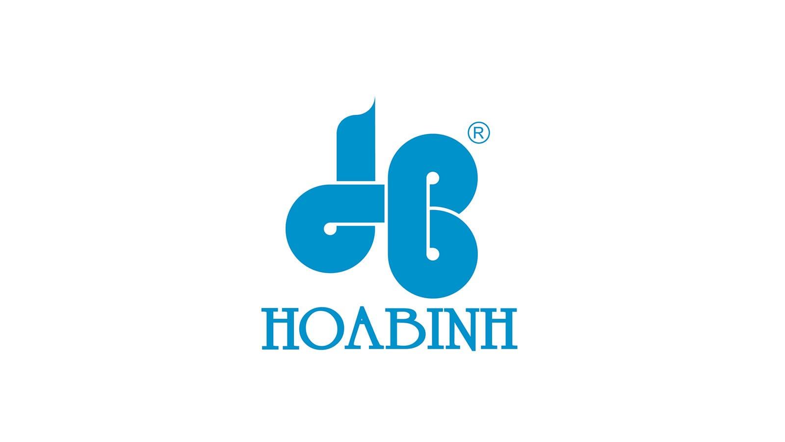 mẫu thiết kế logo đẹp của hòa bình group