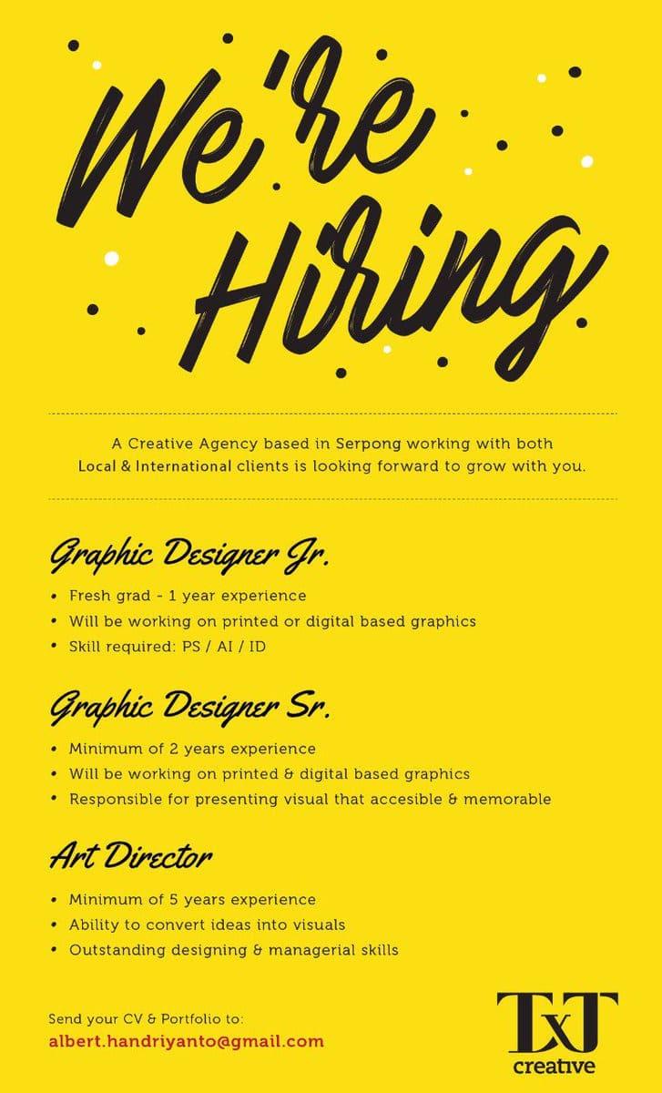 mẫu thiết kế poster tuyển dụng độc đáo