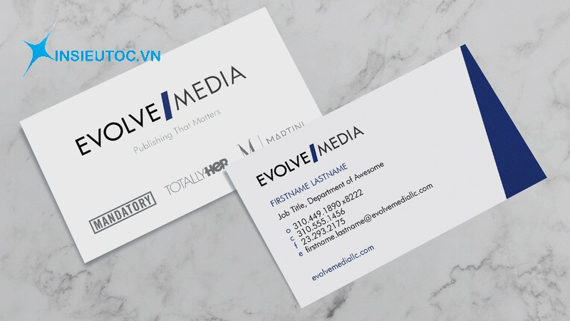 name card giấy couche