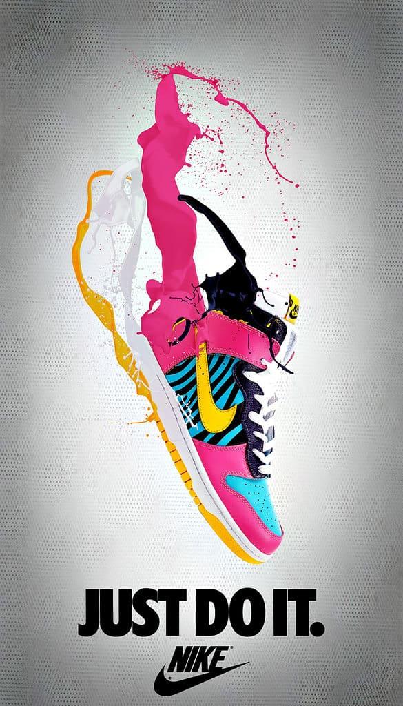 poster giày nike