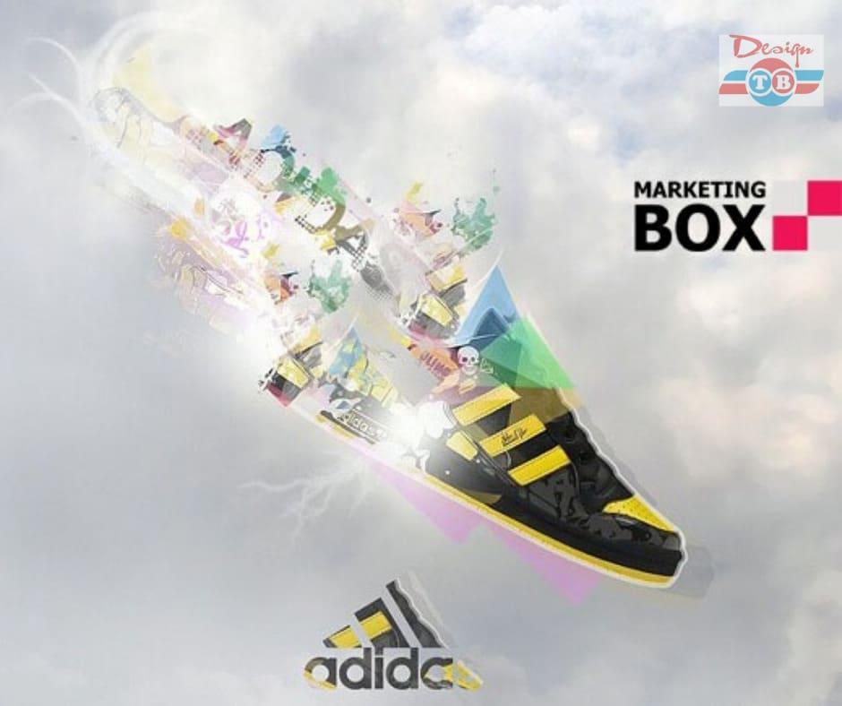 poster quảng cáo giày adidas