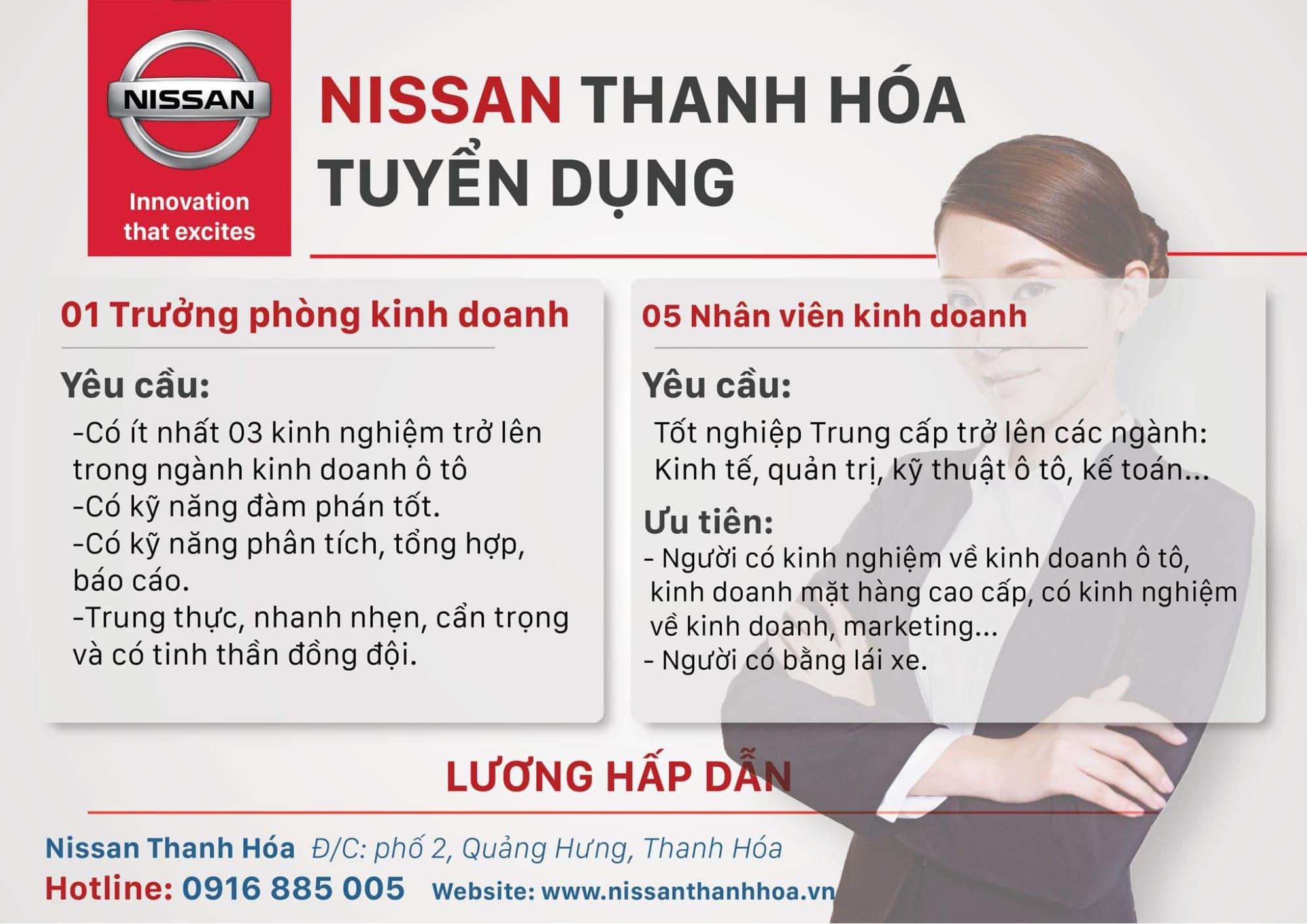 poster tuyển dụng của nissan