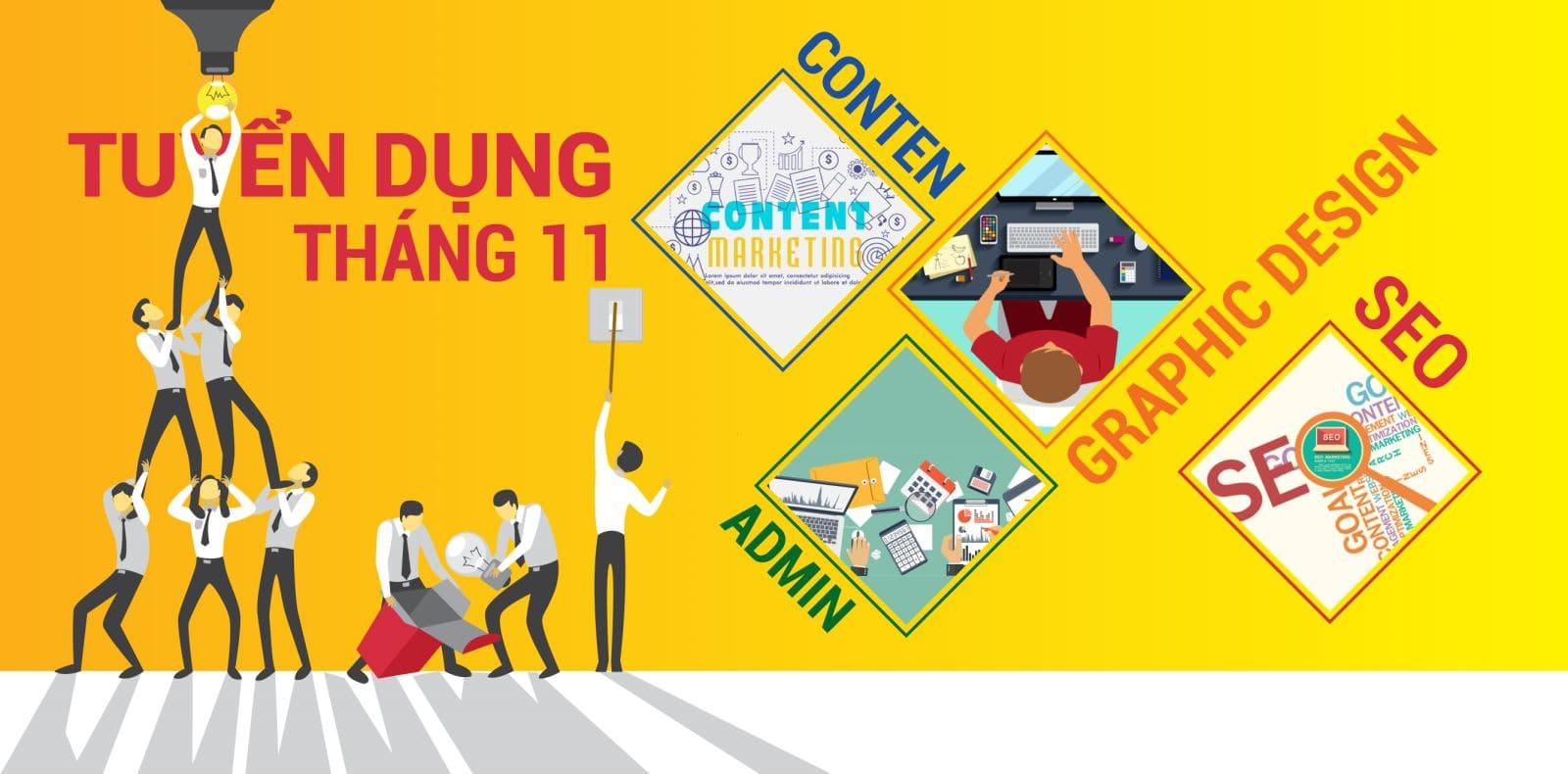 poster tuyển dụng nhân viên marketing
