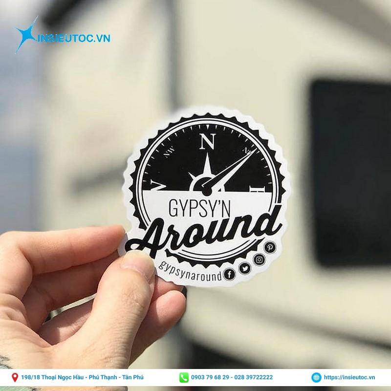 logo sticker cho khách hàng