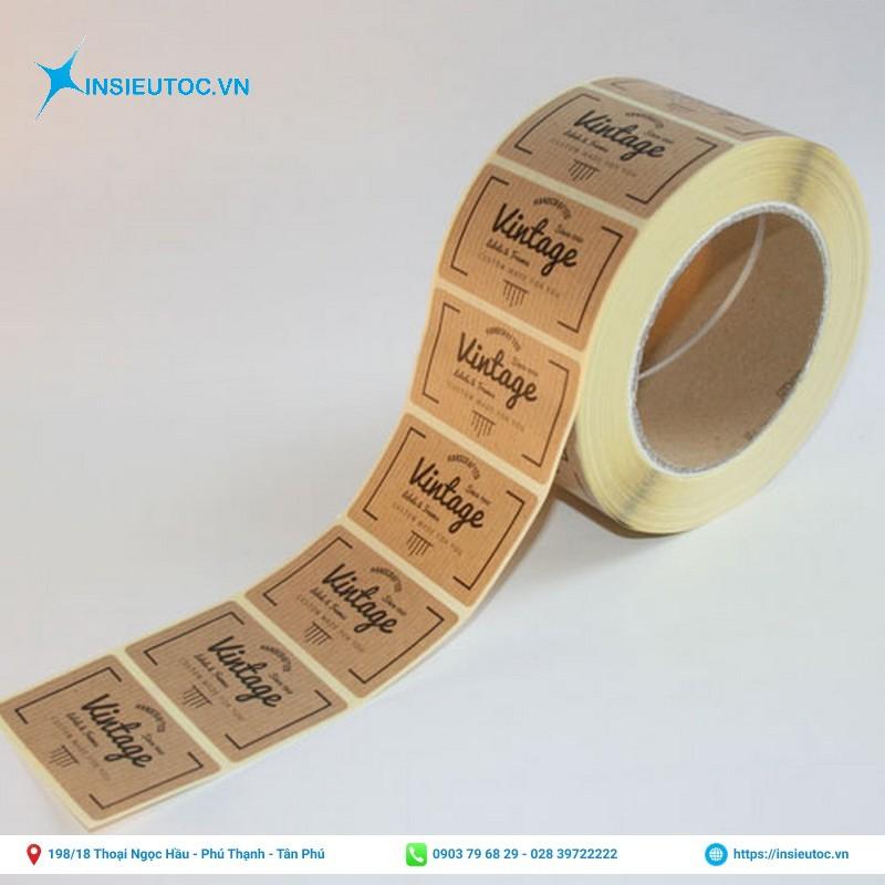 decal cuộn giấy kraft vàng