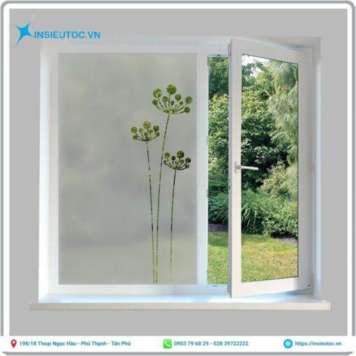 decal mờ dán cửa sổ