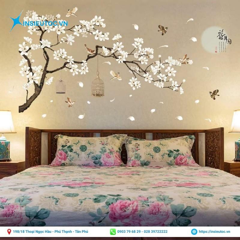 decal trang trí phòng ngủ