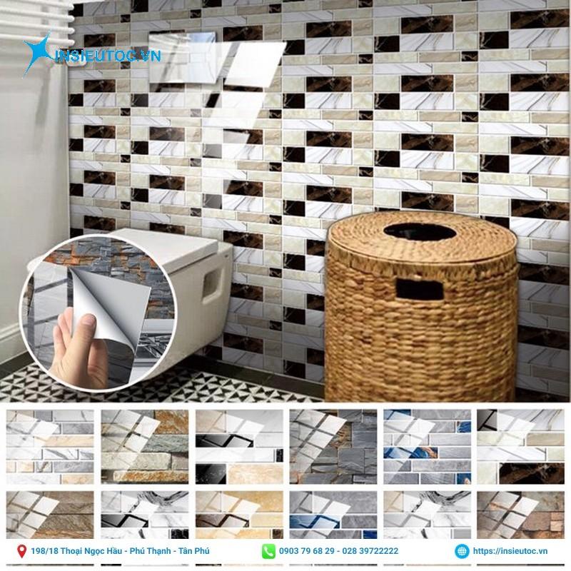 decal trang trí nội thất phòng tắm