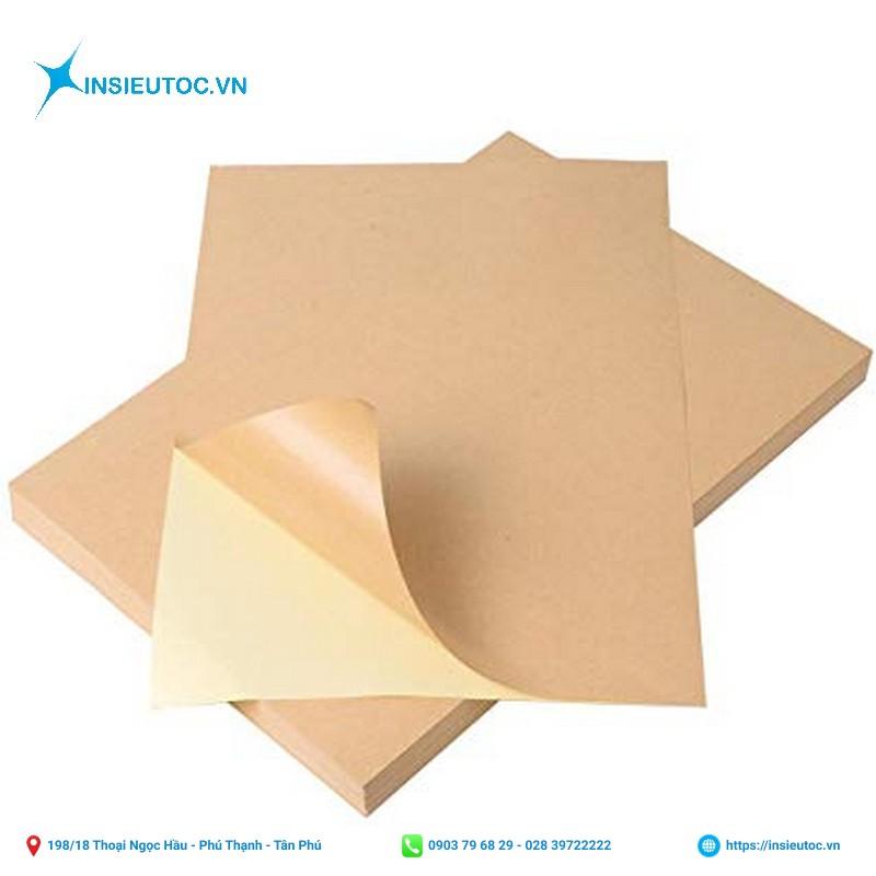 giấy kraft in decal
