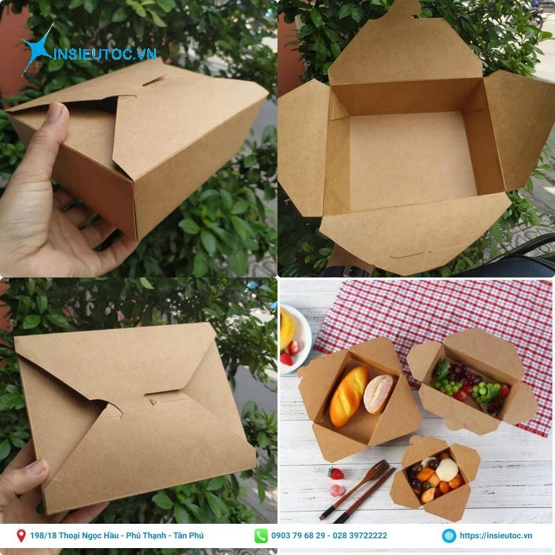 Hộp giấy kraft đựng thức ăn