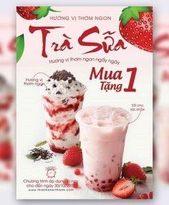 tờ rơi quảng cáo trà sữa