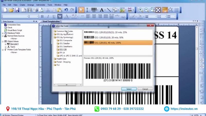 phần mềm thiết kế mã vạch