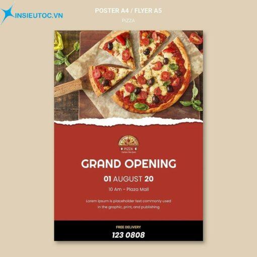 mẫu tờ rơi khai trương tiệm pizza