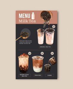 tờ rơi trà sữa trân châu