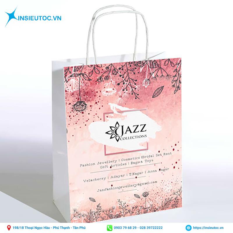 Túi giấy màu hồng nhạt xinh xắn
