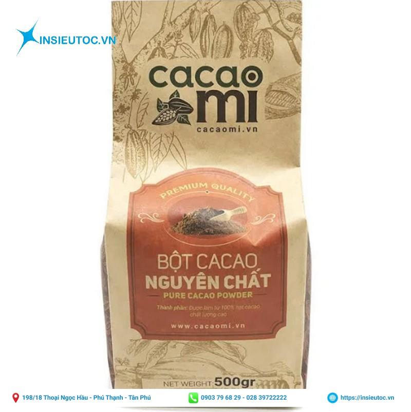 Túi giấy đựng bột cacao