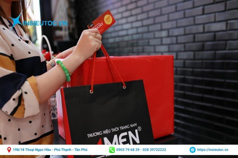 Túi giấy shop thời trang 4MEN