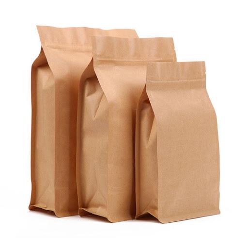 Mẫu túi giấy Kraft đáy đứng trơn