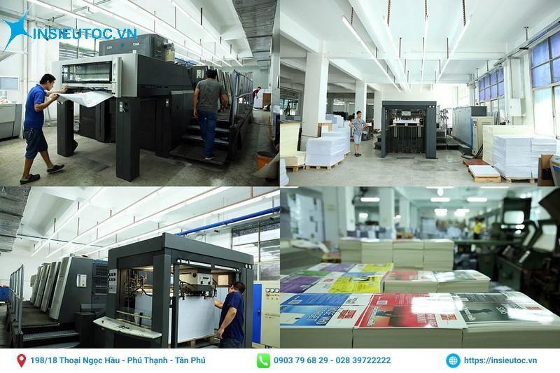 Trang bị máy móc in ấn hiện đại