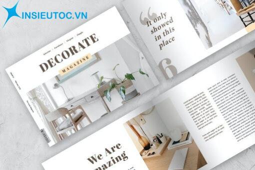 Catalogue nội thất nền trắng chủ đạo
